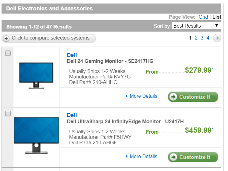 dell ecommerce screenshot