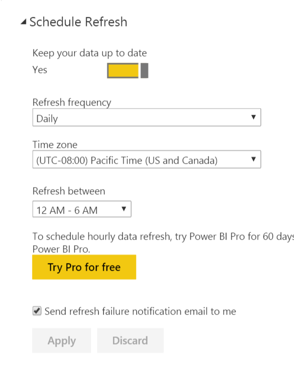 How to schedule Power BI dataset refresh