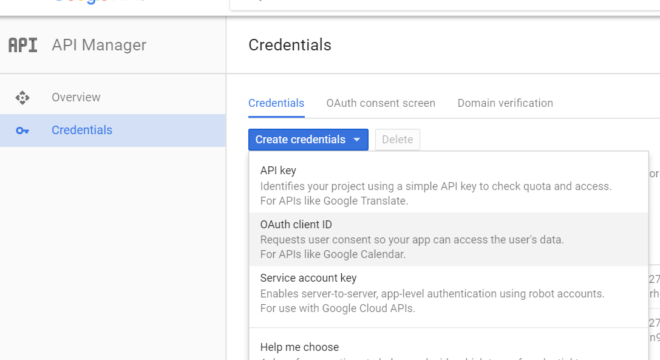 create app - choose auth type